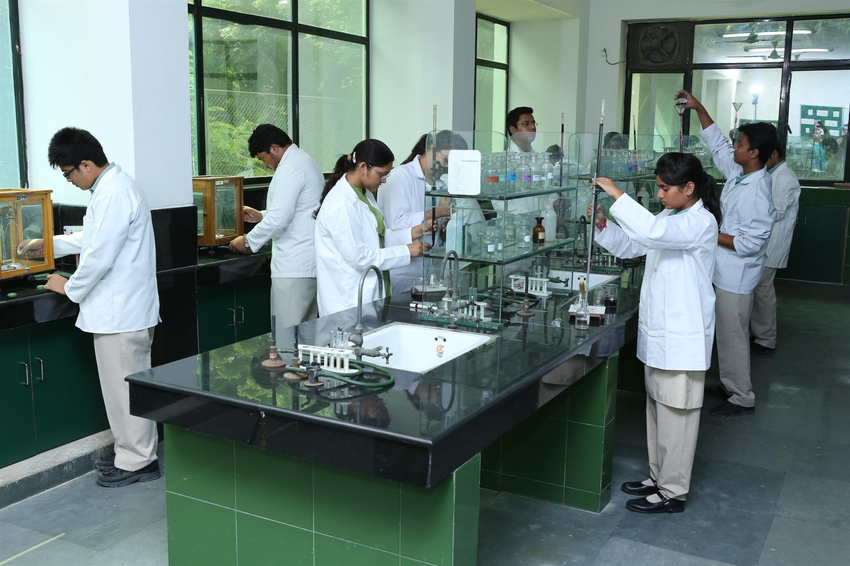 sneh international school chemistry laboratory
